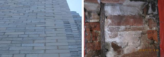Brick, cracking, defect, brick defect, issue, brick issue, failure, brick failure
