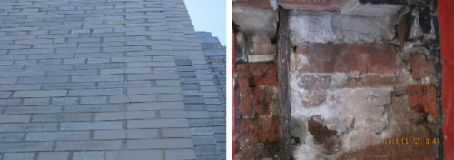 Brick, cracking, defect, brick defect, issue, brick issue, failure, brick failure