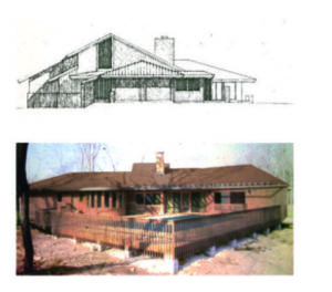 Drawing and Final product of house