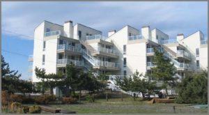 Exterior of contemporary style condominiums